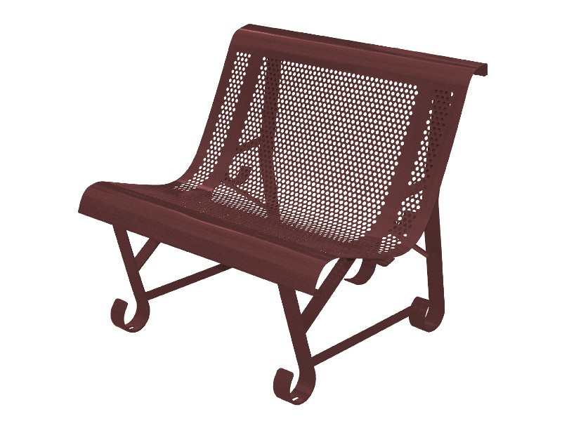 banc, fauteuil de jardin en fer, made in France, couleur marron